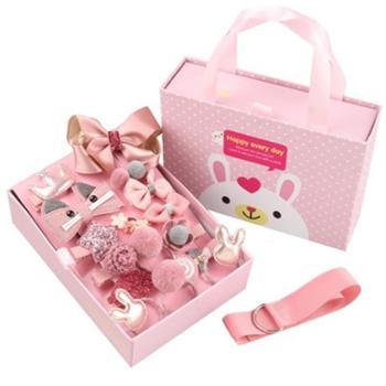 儿童女童头饰发夹(18件套抽屉礼盒)
