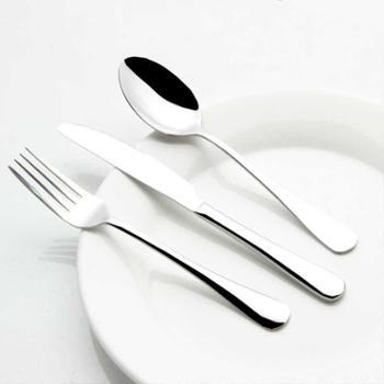 西餐餐具全套西式刀叉勺三件套装吃牛排刀叉陶瓷盘碟两件套不锈钢三件套