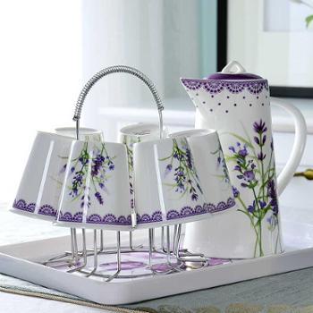 陶瓷杯子水杯套装家用茶杯茶具凉水壶冷水壶欧式客厅杯具骨瓷水具
