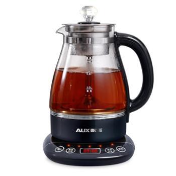 奥克斯煮茶器玻璃全自动蒸汽黑茶煮茶壶电热迷你养生壶普洱蒸茶器
