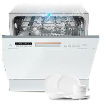美的/华凌8套家用嵌入式洗碗机全自动智能热风烘干消毒一体Vie6