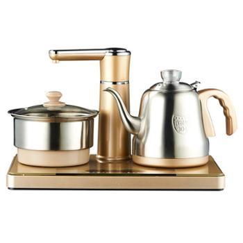 美菱家用全自动上水电热水壶玻璃透明烧水壶智能功夫泡茶炉电磁炉