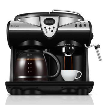 东菱DL-KF7001美式咖啡机家用小型意式半自动奶泡