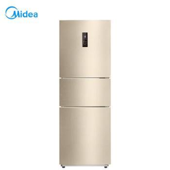 【陕西晟木电子】Midea/美的 BCD-230WTM(E)三门小电冰箱风冷无霜家用冰箱电脑控温