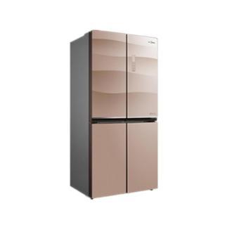 【陕西晟木电子】Midea/美的BCD-432WGPZM十字对开门变频智能家用无霜节能电冰箱