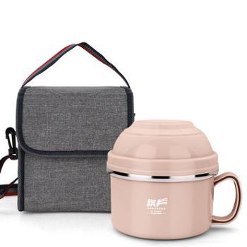 304不锈钢泡面碗带盖饭盒学生单个便当盒宿舍碗筷套装
