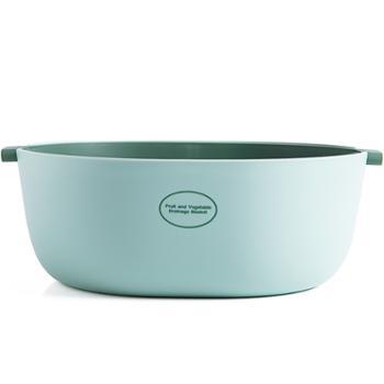 双层塑料沥水篮洗菜盆水果盘客厅家用创意现代菜篮子厨房水果篮