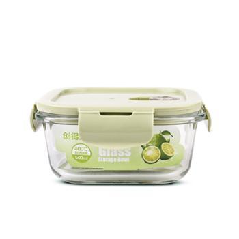 创得耐热玻璃饭盒女微波炉加热专用上班族保鲜水果带盖密封便当碗