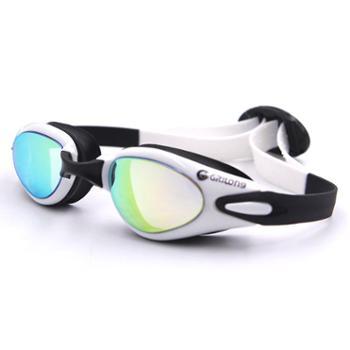 GRiLong泳镜成人眼镜游泳镜防水防雾高清防紫外线电镀硅胶大框MC-805