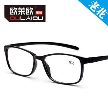 oulaiou/欧莱欧轻仿tr90老花眼镜舒适老人眼睛茶红黑老花镜901