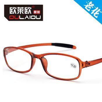 oulaiou/欧莱欧高清树脂老花眼镜老人眼镜防滑脱落橡胶脚老花镜902