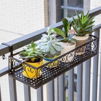索尔诺欧式阳台花架铁艺栏杆多层悬挂式花盆架壁挂绿萝多肉花架