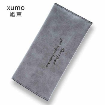 旭茉2018年夏新款韩版钱包女长款薄款卡包时尚磨砂女士学生小钱包