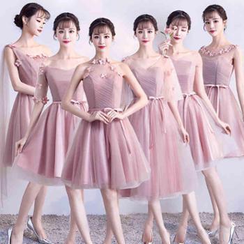伴娘礼服短款新款韩版春夏季伴娘服姐妹裙中长款毕业小礼服女