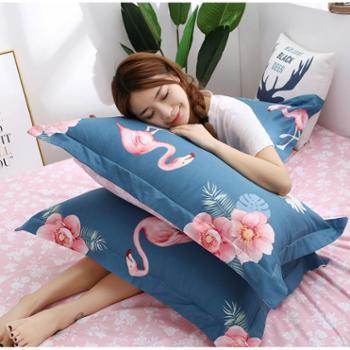【枕套一对装】盛蒂夏季全棉枕套夏天纯棉成人枕头套单人枕芯套48x74cm