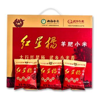 山西小米红星杨羊肥小米礼盒2kg独立小包装