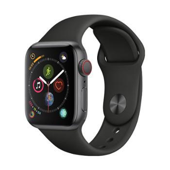 【12期免息分期】Apple Watch Series4 智能手表 40毫米深空灰色铝金属表壳搭配黑色运动型表带