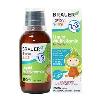 Brauer幼儿复合维生素滴剂100ml 多种维生素 适用于1-3岁宝宝 2021年1月到期
