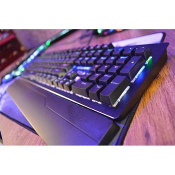 富勒毁灭者,防水防尘,可插拔,网吧网咖,电竞机械键盘,青轴带手托