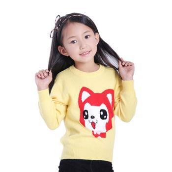 牧都绒语新款女童羊绒衫ETW7011-12