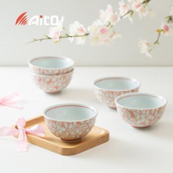 日本原产AITO美浓烧陶瓷餐碗 礼盒套装5个装