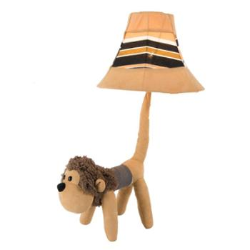 巴里空间 可爱毛绒猴子创意布艺灯儿童房台灯1*E27
