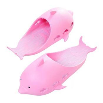 热卖款可爱卡通小海豚亲子拖鞋