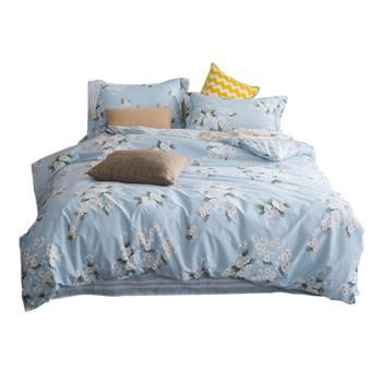 诗蒂芬保暖纯棉小碎花床上用品四件套