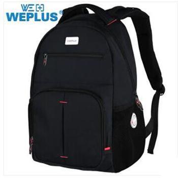 唯加/WEPLU 男士电脑包双肩包 防泼水旅行背包 WP8101 颜色随机
