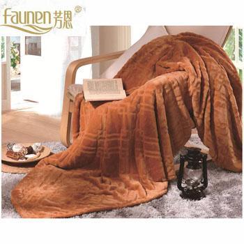 芳恩家纺 FN-T461 纯色魅力洋绒毯 保暖膝盖毯空调毯