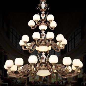 优登欧式吊灯复式别墅大吊灯客厅大厅灯酒店工程水晶灯楼梯灯长吊灯