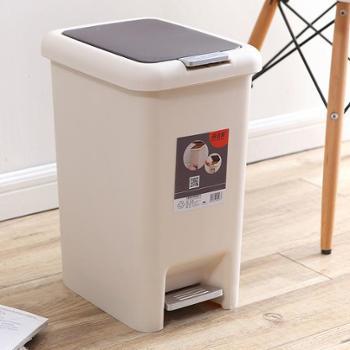 塑料垃圾桶 家用方形垃圾桶创意手按脚踏卫生桶