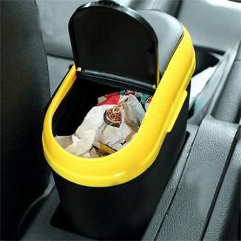 汽车垃圾桶车载垃圾桶时尚创意车用挂式收纳置物车内垃圾箱【颜色随机发货】