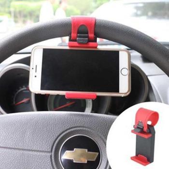 Z【颜色随机】方向盘手机支架车用手机架车载托架iPhone6S Plus苹果5S小米三星