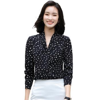 馨霓雅2020秋圆点时尚衬衫FH2057