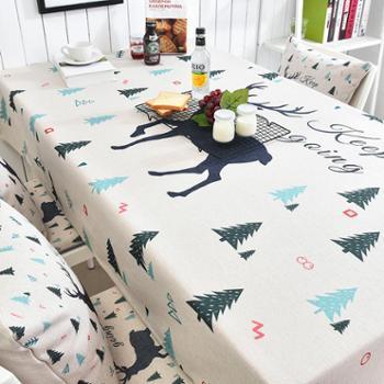 【包邮】北欧简约小清新厚磅棉麻桌布100*140台布客厅茶几长盖布家用棉麻布艺桌布
