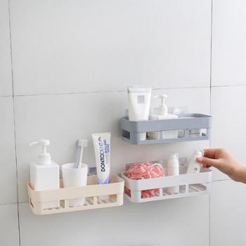 卫生间置物架壁挂浴室吸壁式厕所收纳洗手免打孔用具用品