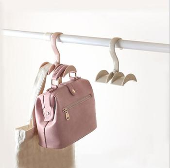 5个装包包收纳架衣柜免钉挂架挂钩 创意挂领带架子挂包架挂衣钩