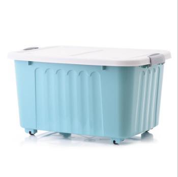 收纳盒大号整理箱 塑料收纳箱 大号带轮储物箱 加厚车载置物箱