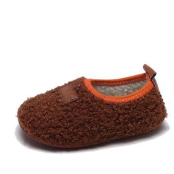 秋冬加棉儿童家居鞋男童地板鞋女童软底宝宝学步鞋子