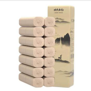 植护无芯卷纸14卷/提厕纸4层加厚卫生纸*家用本色纸巾