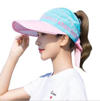 夏季户外大檐防晒遮阳帽子女运动百搭网球帽