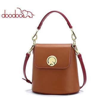 doodoo小包包女新款潮韩版百搭单肩斜挎包时尚小ck手提水桶包D8352