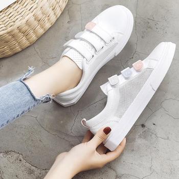 Lell/莱尔春款透气小白鞋女2019新款网红鞋夏季韩版学生百搭帆布鞋平底板鞋