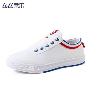 Lell/莱尔透气小白鞋女网红鞋春款夏款韩版学生百搭帆布鞋平底板鞋