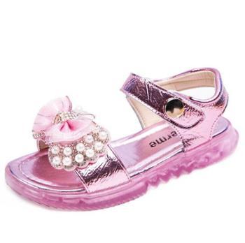 慕思时尚公主女童凉鞋软底童鞋