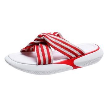 魔麦松糕拖鞋女外穿交叉防滑厚底一字沙滩凉拖鞋