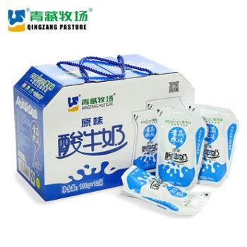 青藏牧场爱克林常温酸牛奶180g*12袋