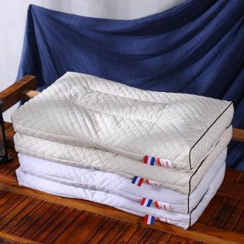 花蓉蓉全棉枕头全荞麦护颈椎家用双人单人枕芯一对装拍2