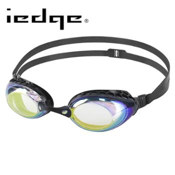 巴洛酷达品牌iedge系列近视泳镜透明镀金/黑VG-935